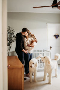 Colorado Newborn Photographer, baby family and dogs