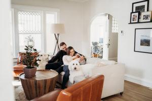 Colorado Newborn Photographer, baby family dogs