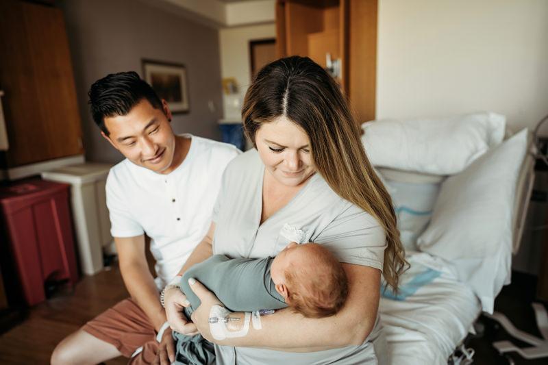 alex morris design newborn photographer, denver, baby hospital
